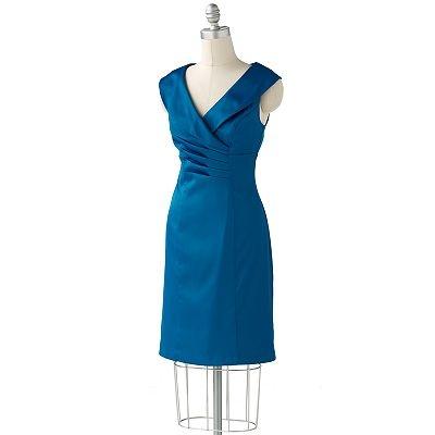 ab studio pintuck surplice dress blue dresses for aubrey