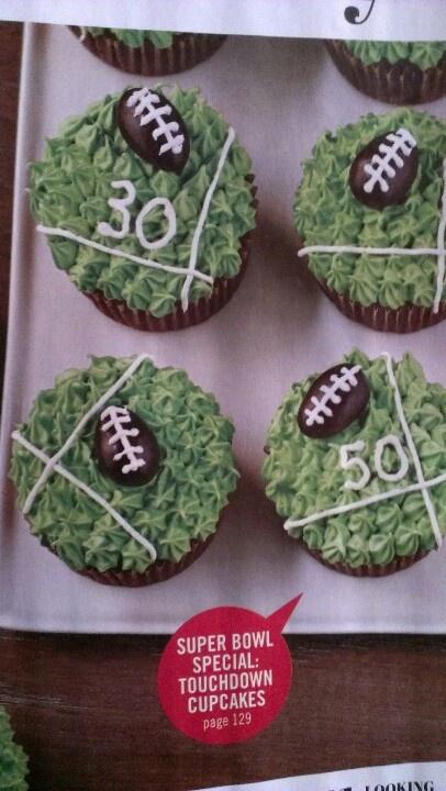 Superbowl cupcakes   Fútbol americano ...   Pinterest