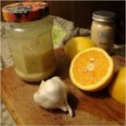 blood orange ginger salad dressing/marinade