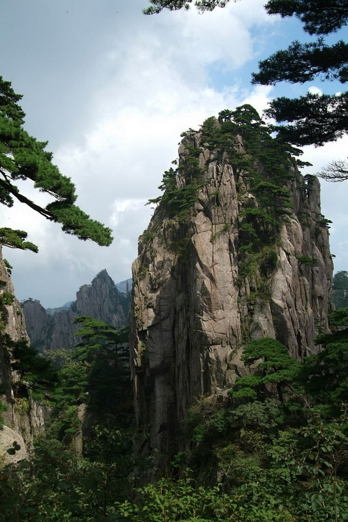 Huangshan Mountains | View from a hill - Mountains | Pinterest