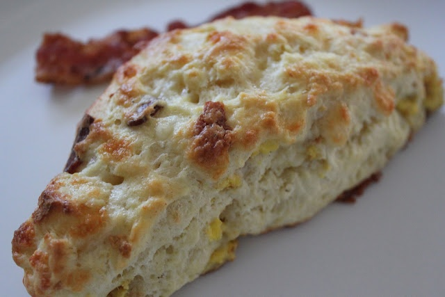 Bacon, egg, and cheese scone | breakfast | Pinterest
