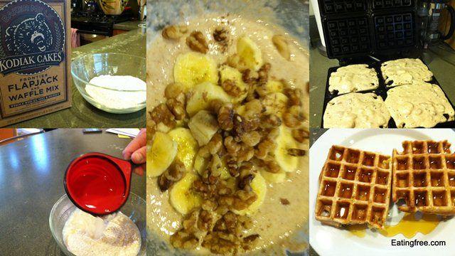 Banana Walnut Waffles | Freecipes: Just Recipes | Pinterest