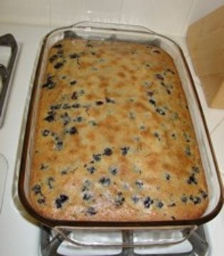 justJENN recipes – Blueberry Mochi Cake-the kiddos gobbled this up