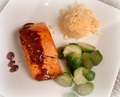 Feast for the Eyes: Wasabi & Honey Glazed Salmon with Coconut Rice ...