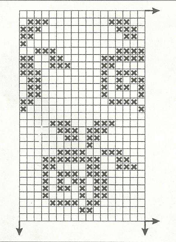 Филейные схемы для вязания крючком 53