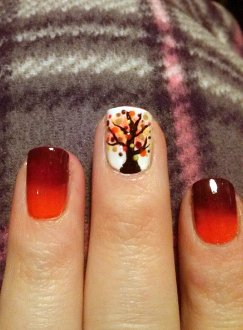 Thanksgiving nail art 2013 | My Own Nails | Pinterest