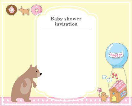 Free Printable Baby Shower Invitation, Bear, Gingerman Printed, Baby ...
