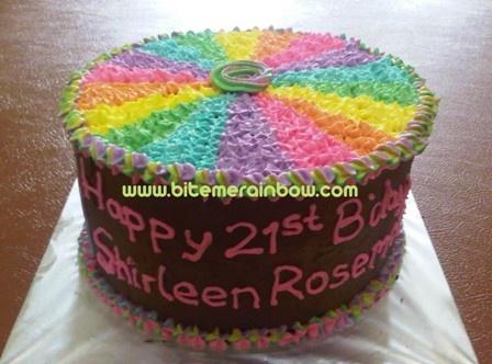 Pin by BiteMe Rainbow Rainbow Cake - Kue Pelangi on ...