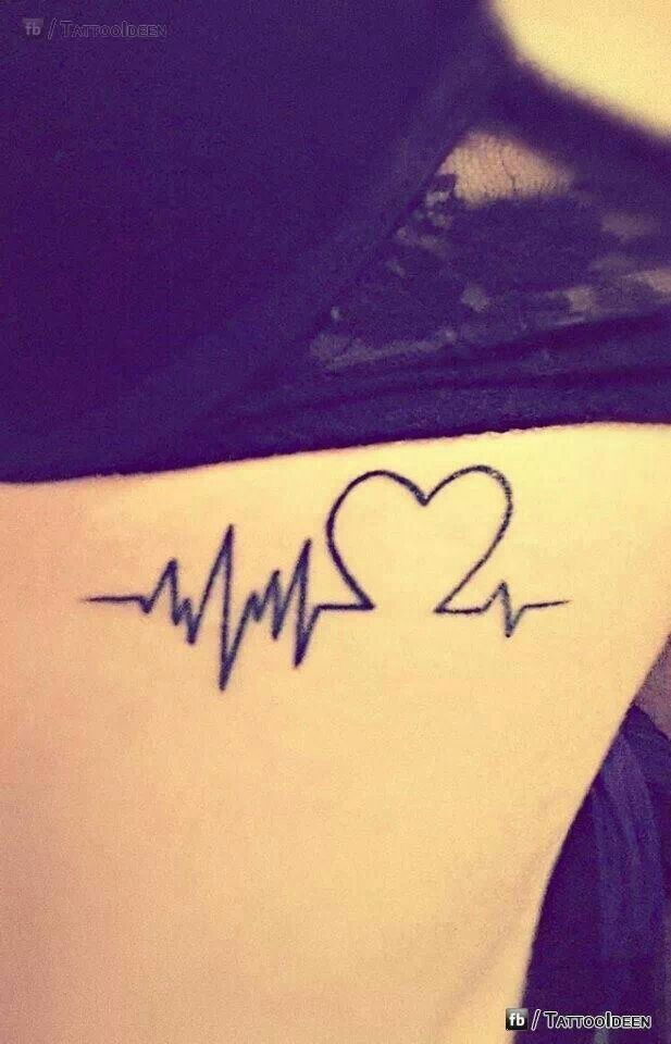 heart beat tattoo permanent ink pinterest. Black Bedroom Furniture Sets. Home Design Ideas