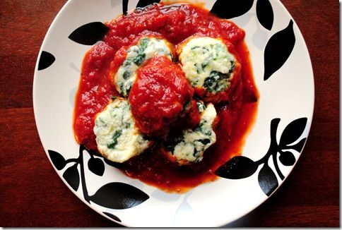 Gnudi - naked ravioli (aka lower carb)....could combine with more ...