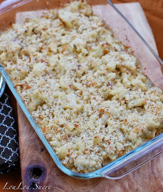 Roasted Garlic & Cauliflower Gratin | YUM! | Pinterest