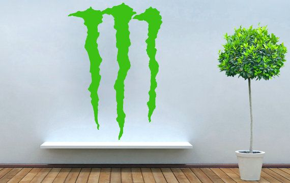 monster energy logo company drink vinyl decal wall