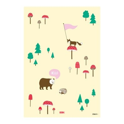 Wrapping Paper 5pk: Forest Friends | New Releases | Shop | kikki.K Stationery & Gifts