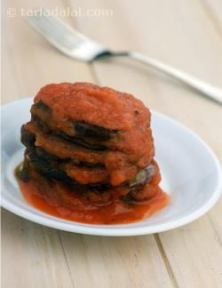 ... delight to behold and dig into! serve the eggplant in tomato sauce