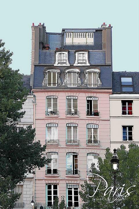 long mens wallet Pink in Paris  LOVE