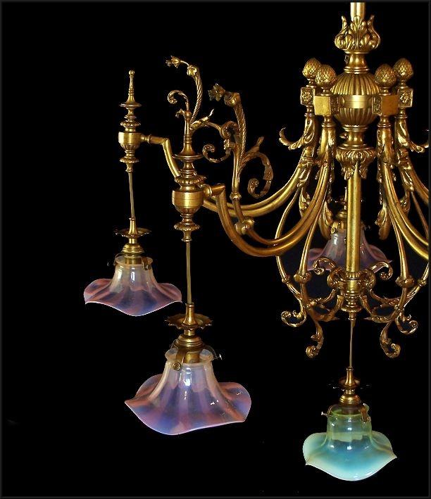 Fantastic art nouveau chandelier decor pinterest for Chandelier art nouveau