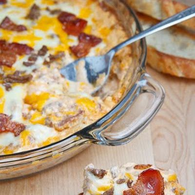 Bacon Double Cheese Burger Dip | Nibbles and Noshes | Pinterest