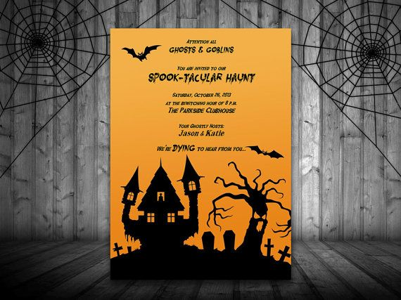 Halloween Haunt Party Invite Microsoft Word Template - Holiday ...