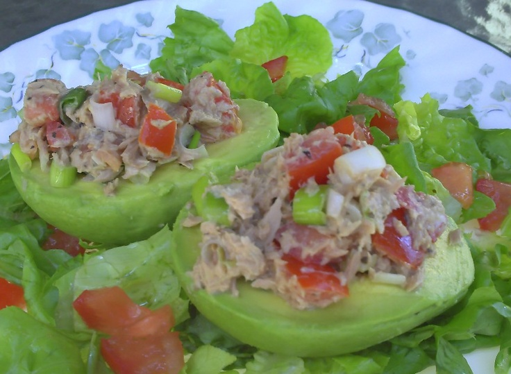 Tuna Stuffed Avocados - Great, light flavorful mix. Ends up being a ...