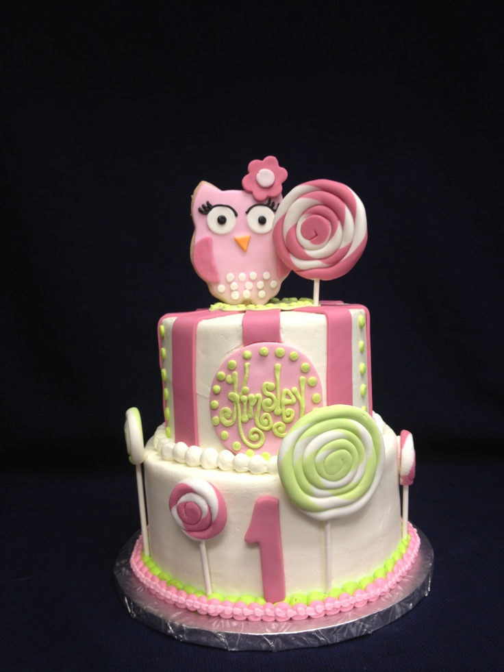 Cake Ideas For Girl First Birthday : Girls 1st birthday cake Cakes Pinterest