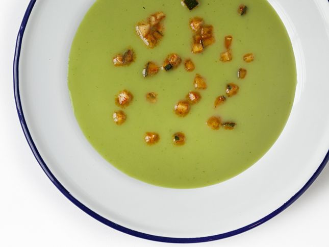 Melon-Basil Soup - Q by Equinox | Drinkables and Edibles | Pinterest