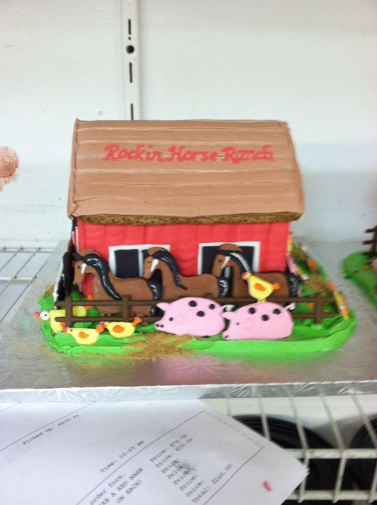 Gingerbread house farm   Angela's Edible Designs   Pinterest