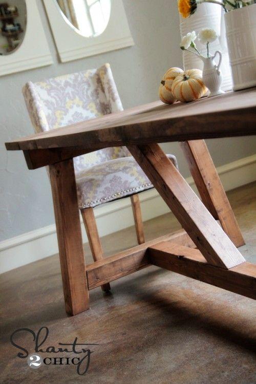 DIY Restoration Hardware Dining Table--$100!!!