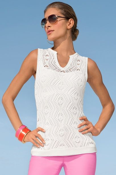 Free Crochet Patterns For Sleeveless Tops : Pin by Michelle Womack on Crochet Tops Pinterest