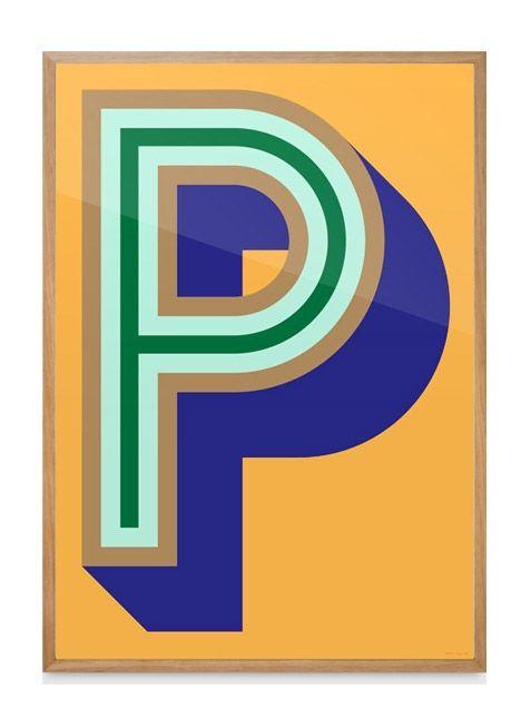 POP! Poster –P yellow (70x100 cm)