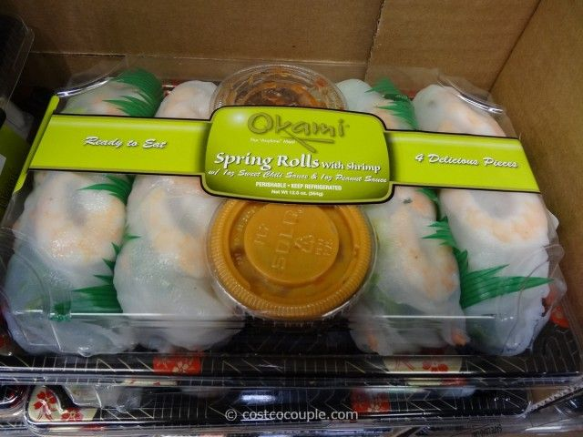 Clean eating okami shrimp spring roll 2 rolls only 130 calories so