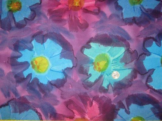 BALI BATIK FABRIC TROPICAL DREAM SEW CRAFT QUILT WALL ART GRAPE BLUE ...