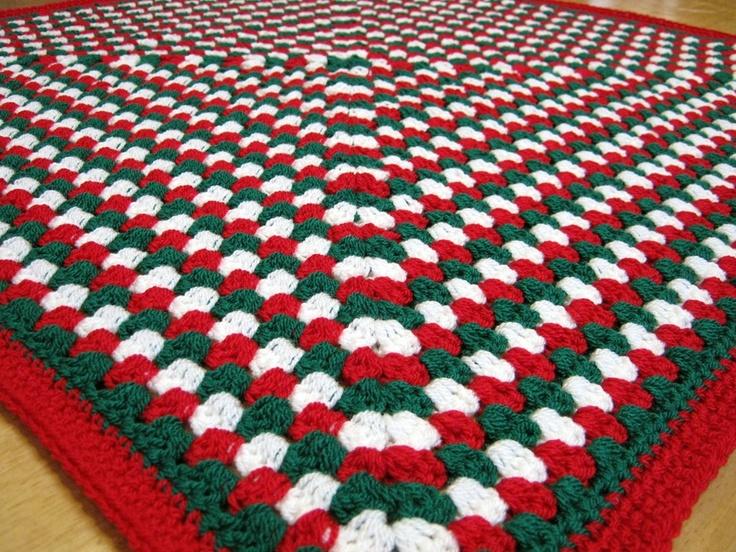 Free Crochet Christmas Throw Patterns : festive Christmas granny square blanket Christmas ...