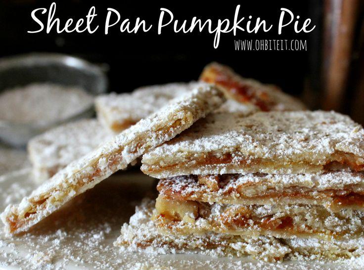 Sheet Pan Pumpkin Pie! | Pumpkin | Pinterest