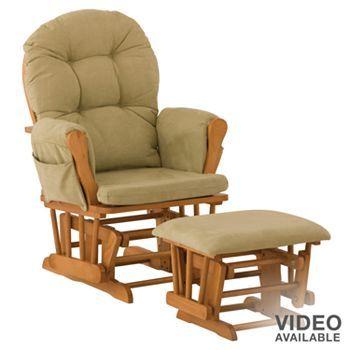 Stork Craft Hoop Glider Rocking Chair and Ottoman