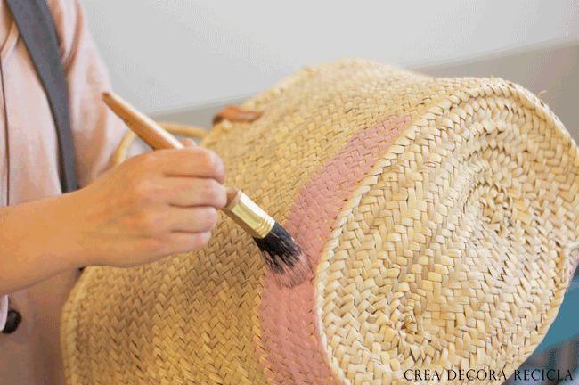 Pintar una cesta de mimbre capazos pinterest - Cestos de mimbre ...
