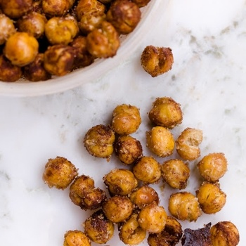 Sweet and salty chick peas makes a great snack