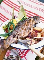 Herb-Stuffed Grilled Trout | Recipe