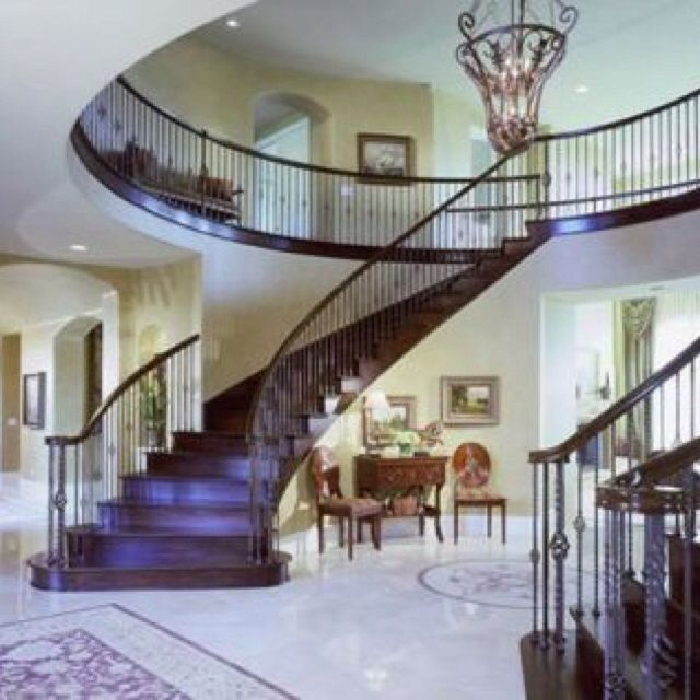 Double Staircase Beautiful Staircases Pinterest