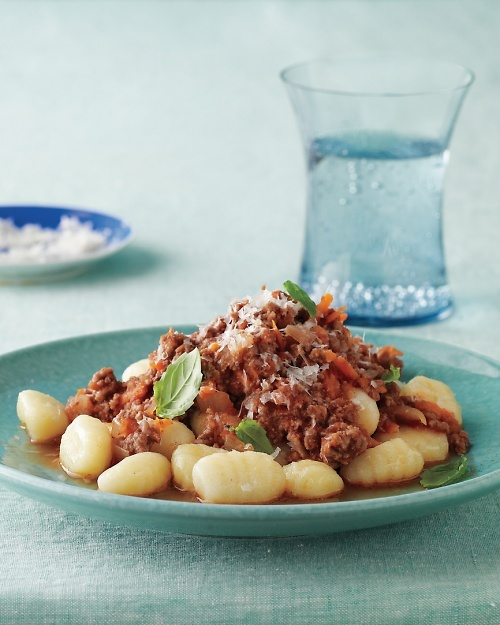 Gnocchi with Quick Meat Sauce - Martha Stewart Recipes (with 5 cups of ...