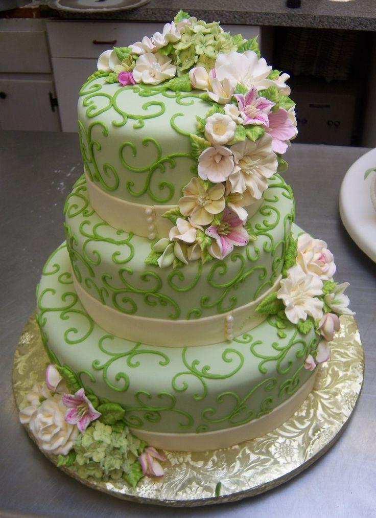 Pretty Green Cake