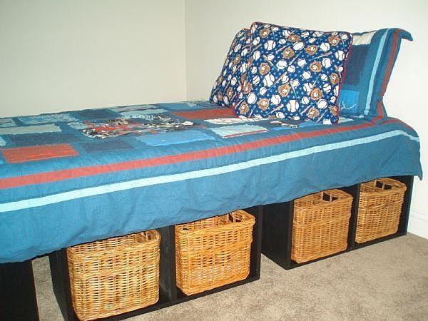 How to Make a Platform Bed With Storage (Quick ideas for the kids room ...
