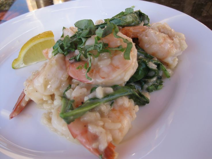 Pan-Seared Shrimp and Arugula Risotto | Rice | Pinterest