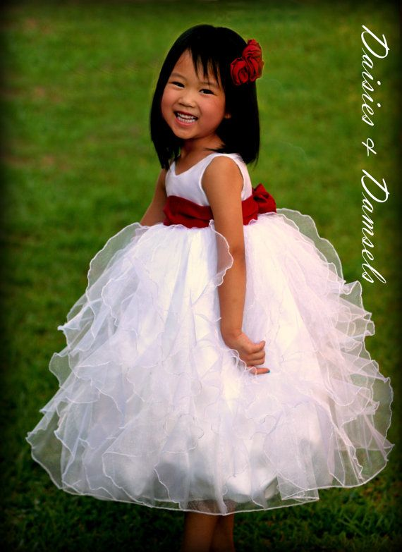Any little flower girl would have so much fun wearing all these ruffles!