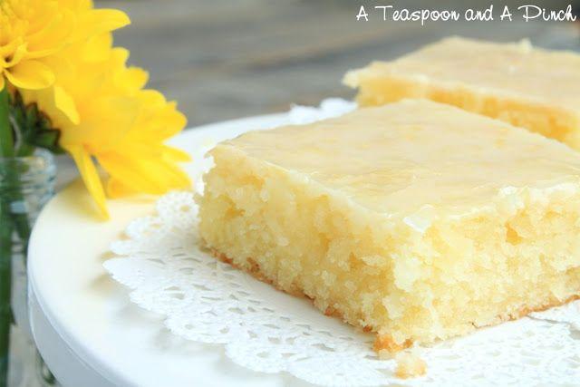 Teaspoon and A Pinch: Lemon Brownies (aka Lemon Poundcake)