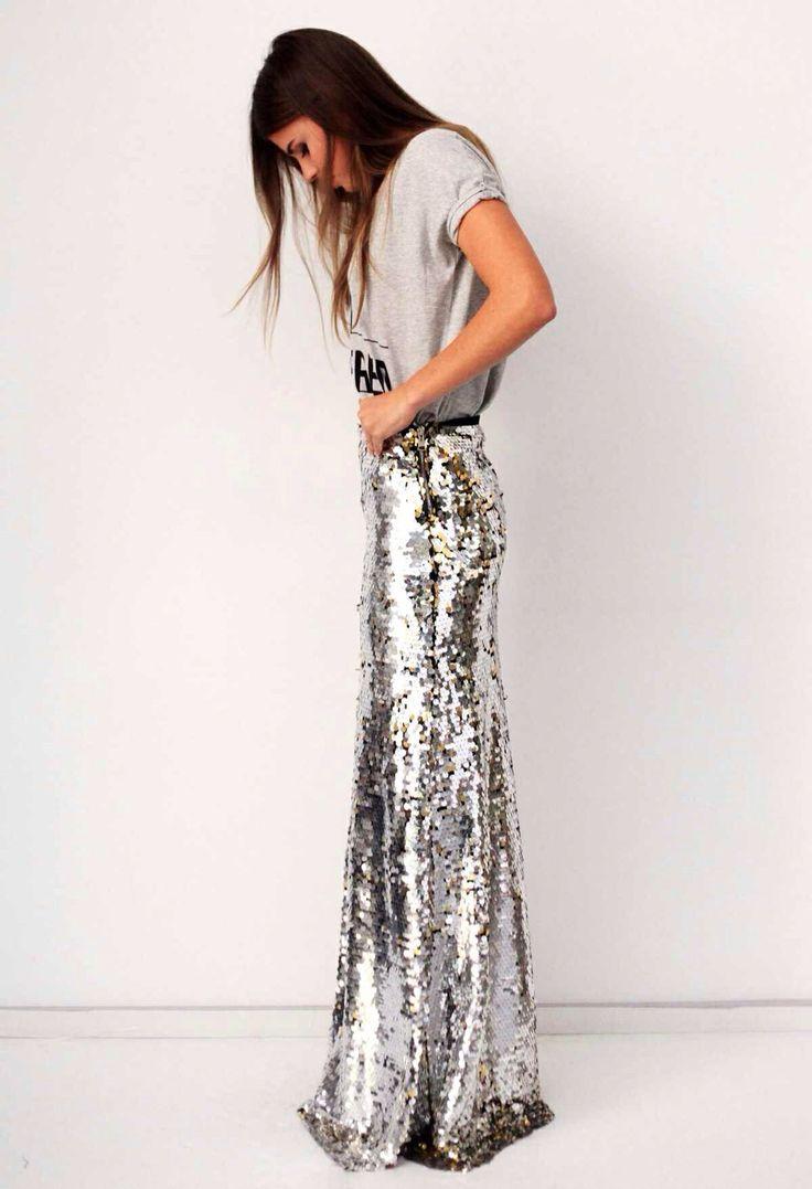 a sparkly sequin maxi skirt c h a l a t a i d r e s