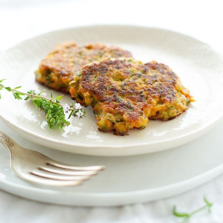 Vegetable Galettes with Fresh Herbs — zucchini and sweet potato