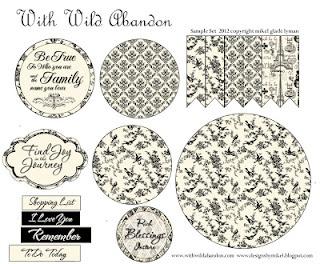 With Wild Abandon: Freebie Vintage Paris Medallion Template and Tutorial