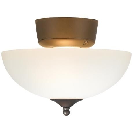 white glass oil rubbed bronze ceiling fan light kit. Black Bedroom Furniture Sets. Home Design Ideas