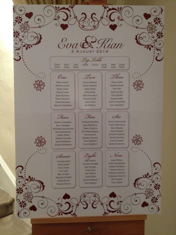 a3 board seating plan wedding ideas pinterest