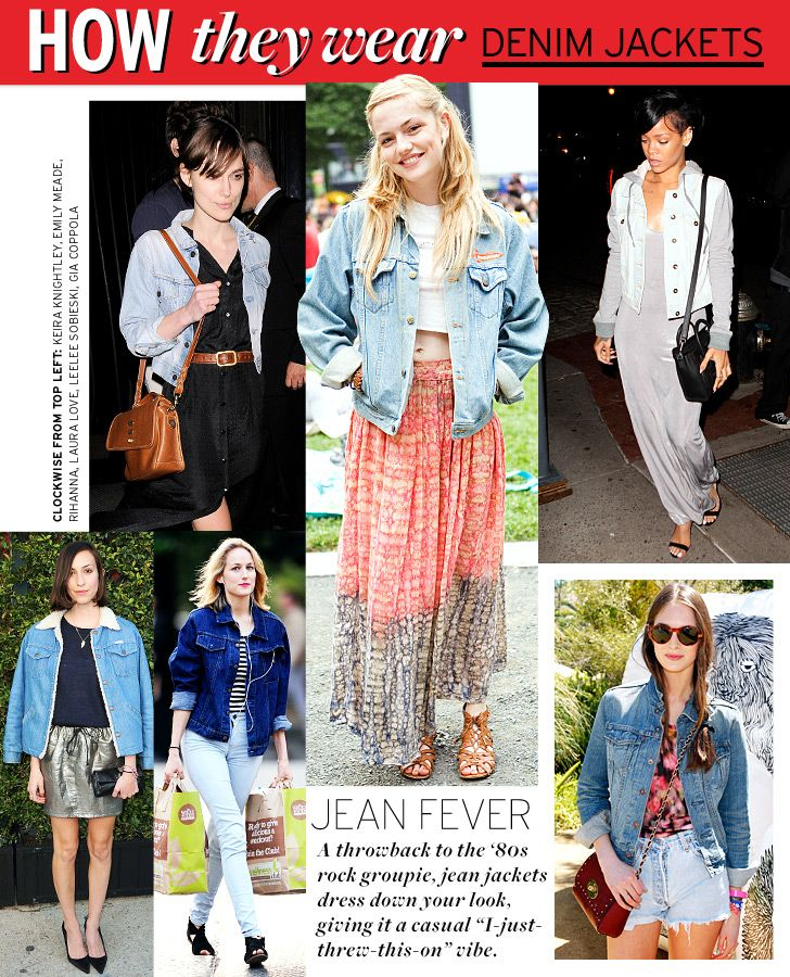 many ways to wear a denim jacket - Google Search